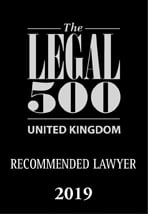 The Legal 500 - Recommended Lawyer 2019